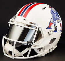 NEW ENGLAND PATRIOTS NFL Authentic GAMEDAY Football Helmet w/ MIRROR Eye Shield