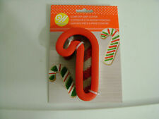 """New listing Wilton Candy Cane Metal Comfort Grip 2 1/2""""x"""" 4 1/2""""x 1 1/2"""" Cookie Cutter /New"""
