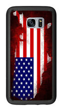 Grunge USA Flag Shape Outline For Samsung Galaxy S7 G930 Case Cover by Atomic Ma
