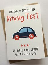 Personalised Congratulations on Passing Driving Test Card: Bus W**ker Funny Rude