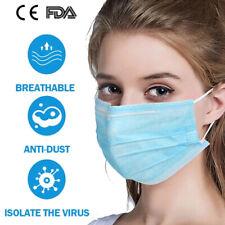 1-100pcs Medical Masks Disposable 3 ply Blue Face Masks Best Prices