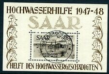 GERMANY (SAAR)-1948 Airmail Minisheet Sg MS256a VERY FINE USED V9868