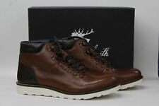 40379d325 GOODWIN SMITH Men's Houston Tan Brown Leather Hiking Boots UK12 EU47 NEW