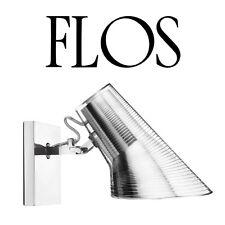 Flos E27 Kelvin Wall Lamp with adjustable head, polished aluminium