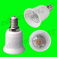 E14 A E27 Luce Lampadina Convertitore LED Adattatore VENDITORE UK