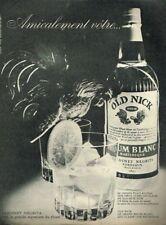 B- Publicité Advertising 1963 Le Rhum Old Nick Bardinet Negrita