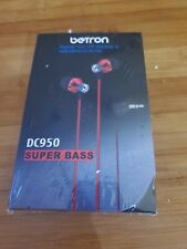Betron DC950HI Earbuds Noise Isolating in Ear Headphones New factory sealed