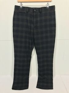 Mens Grey & Blue Check Pattern Wool Blend Banana Republic Trousers - W32 L34 A60
