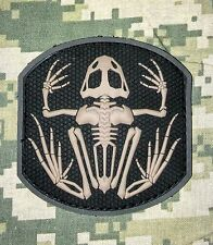 SKELETON FROG NAVY SEAL PVC BADGE MORALE ACU DARK VELCRO® BRAND FASTENER PATCH