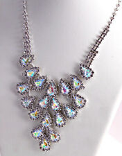 Clear crystal chandelier necklace, great wedding accessory!