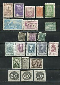 BRAZIL CLASSIC MOSTLY MINT SELECTION HIGH CATALOGUE VALUE AS SHOWN