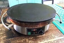 """Krampouz 15 1/2"""" Round Electric Cast Iron Crepe Maker Model # CEBIF4"""
