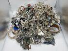 15.4 lbs. Silver Tone Assorted Scrap Jewelry Bulk Lot JM372