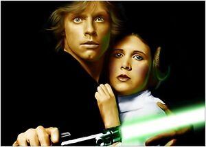 Luke Skywalker Princess Leia StarWars Large Poster Art Print A0 A1 A2 A3 A4 Maxi