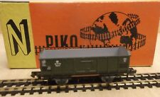 PIKO N 5/4125-015 OPEN GOODS WAGON GREEN The Dr CLEAN CONDITION IN ORIGINAL BOX