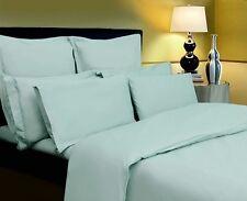 SUPER KING BED 100% EGYPTIAN COTTON 400 THREAD COUNT FLAT SHEET DUCK EGG GREEN