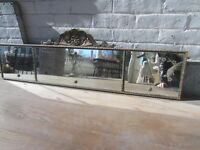 "Antique Etched Mirror Deco 42"" x 9"""
