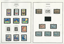 Canada Back of Book Stamp Collection on 12 Harris Pages, Jfz