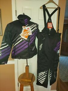 Arctiva S8 Comp Insulated Womens Sz L Snowmobile Riding Racing Jackets + Bib NWT