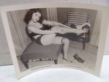Vintage Irving Klaw Photo Gladys Slip #27 B&W Pin Up Stockings Underwear Risqué