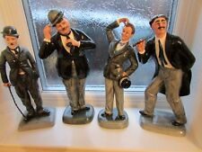 royal doulton laurel and hardy charlie chaplin grouch marx, all mint firsts LQQK