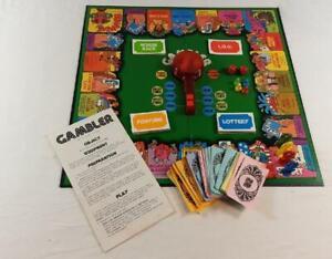 Gambler Board Game Vintage Parker Brothers 1977 100% Complete
