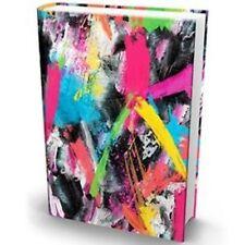 Book Sox - 2 Pack Brush Stoke Premium Quality Jumbo Print & Random Solid Print