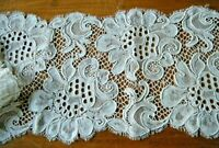 "20c Brussels Alencon lace trim  both edge scalloped  66""x 6"" Europe"