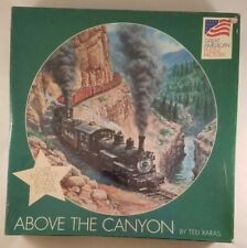 Train Puzzle Above the Canyon By Ted Xaras Quality 500 Piece Round Vintage
