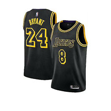 Los Angeles Lakers Kobe Bryant Black Mamba City Edition Swingman Jersey All Size