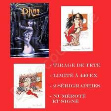 Tirage de Tete MIRALLES Djinn 07 et 08 440ex signé + 2 ex-libris sérigraphies