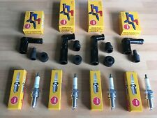 YAMAHA XJ650 (NOT TURBO) 1981-1984 NGK SPARK PLUGS AND BLACK CAPS FREE POST!