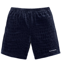Ds Supreme Croc Velour Short Navy Size Small In Hand! 100% Authentic!