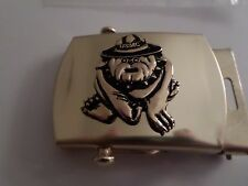 U.S MILITARY MARINE CORPS BULL DOG SOLID BRASS BELT BUCKLE MADE IN THE U.S.A