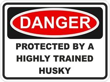 HUSKY Dog Breed Danger Sticker Pet for Bumper Locker Car Door Locker
