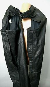 Harley Davidson Genuine Black Leather Motorcycle Chaps Mens L