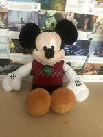 D The Disney Store Mickey Mouse Christmas 2014 Plush Soft Toy Teddy Rare