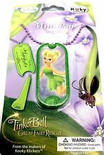 New Disney Fairies Tinker Bell Mini Pen Dog Tag Fairies Chain Necklace Jewelry 1