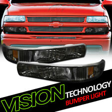 For 99-06 Silverado/Suburban/Tahoe Smoke Signal Parking Bumper Lights Amber dy