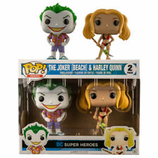FUNKO POP VINYL DC COMICS THE JOKER AND HARLEY QUINN 2 PACK BEACH EXCLUSIVE