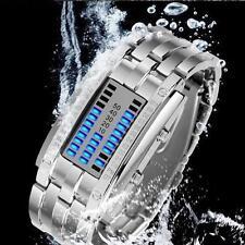 Waterproof  Luxury Men's Stainless Steel Date Digital LED Bracelet Sport Watches