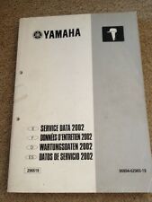 Service Manual Yamaha Outboards Service Data 2002