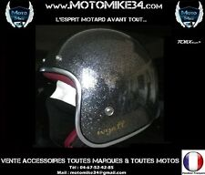 Casque Bol Jet Torx Wyatt Jaune Brillant Taille L Moto scooter cyclo Mob Custom