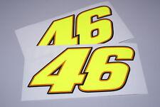 """Rossi """"THE DOCTOR"""" Race Number 46 Helmet Decals (Pair) 2011"""