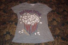 Charlotte Russe Popping Fresh Popcorn T-Shirt Womans Girls petite small grey