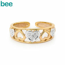 Yellow Gold Plated Toe Rings
