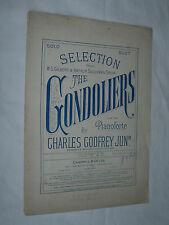 Selection from Gilbert & Sullivan's Opera The Gondoliers Godfrey 1890 Pianoforte