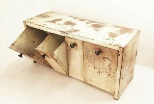 Vtg Emco binister kitchen wall counter metal storage 4 fold out bins cabinet