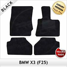 BMW X3 F25 2010-2016 Velcro Tailored LUXURY 1300g Carpet Car Floor Mats BLACK
