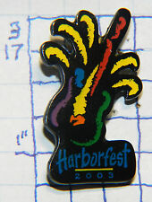 NEW YORK, OSWEGO HARBORFEST 2003 FIREWORKS SOUVENIR METAL  HAT OR LAPEL PIN